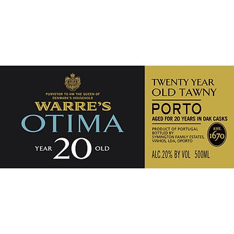 NV Warre's Otima 20 Year Old Tawny Porto 500ml