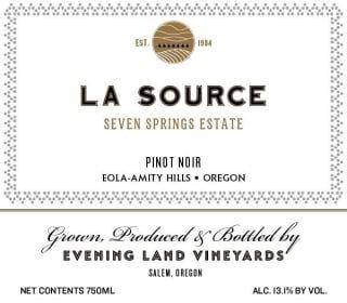 Evening Land Seven Springs Vineyard La Source Pinot Noir 2017