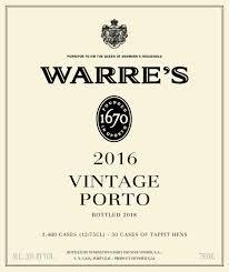 2016 Warre's Vintage Porto