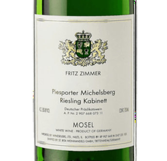 Fritz Zimmer Piesporter Michelsberg Riesling Kabinett - Mosel, Germany