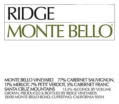 2017 Ridge Monte Bello Bordeaux Blend