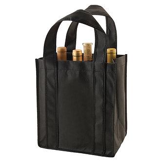 6 - Bottle Black Wine Bag