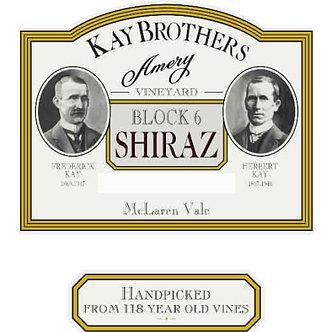 2011 Kay Brothers Shiraz Block 6 Amery Vineyard