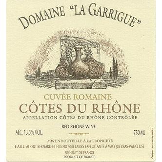 """2017 Domaine La Garrigue """"Cuvee Romaine"""" Côtes du Rhône Rouge"""