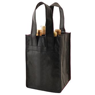 4 -Bottle Black Wine Bag