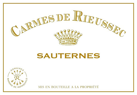 375 ML / HALF Bottle of 2018 Chateau Rieussec Carmes de Rieussec Sauternes