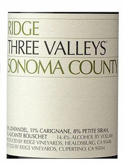 "Ridge ""Three Valleys"" Sonoma County Zin Blend"