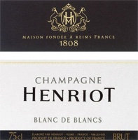 NV Henriot Brut Blanc de Blancs 2 Glass Gift Set