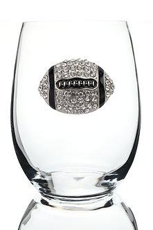 Queen's Jewel's Football Jeweled Glassware