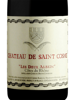 Chateau de Saint Cosme Cotes du Rhone Les Deux Albions Rouge