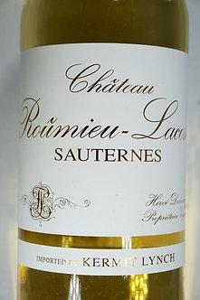 375 ML / HALF Bottle of 2018 Chateau Roumieu-Lacoste Sauternes
