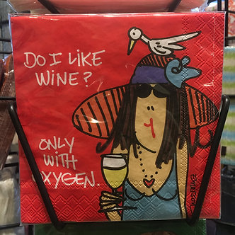 """""""Do I like Wine? Only with oxygen."""""""