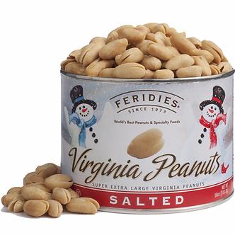 Feridies Virginia Salted Peanuts Snowman Can (6oz)