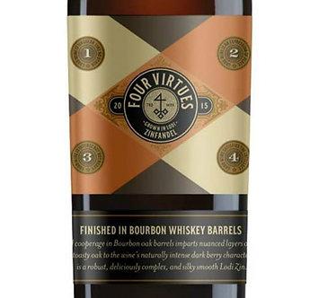 2017 Four Virtues Zinfandel-Finished in Bourbon Whiskey Barrels
