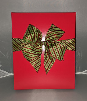 3 Bottle Red Wine Gift Box with Cloth Bow