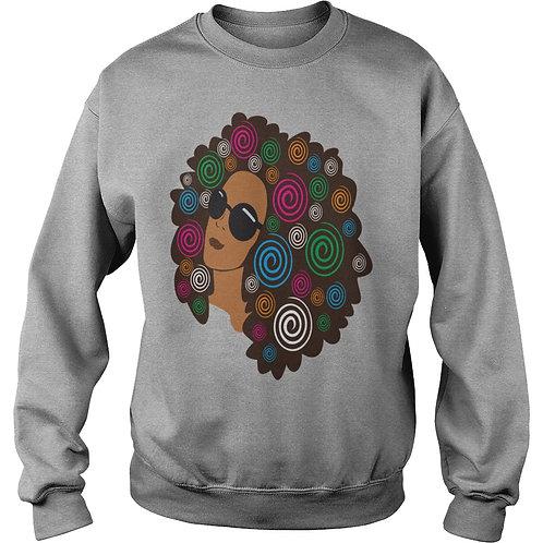 Afro Woman Unisex Crew Sweater
