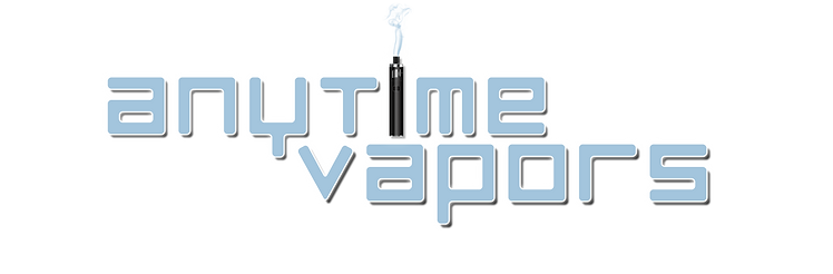 Anytime Vapors Large Logo in Blue