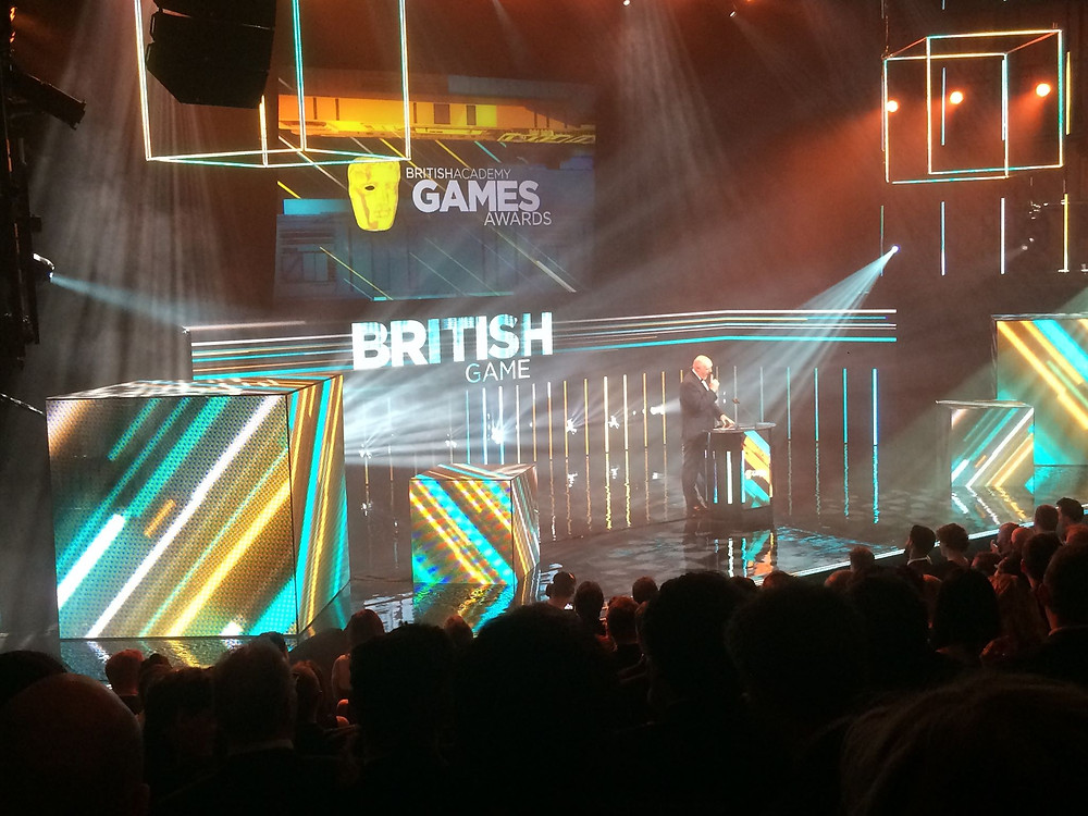 The BAFTA Game Awards Stage with Dara Ó Briain