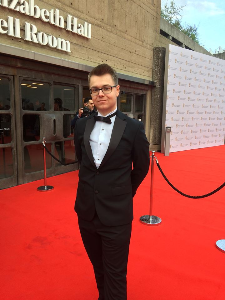 Me on the red carpet at The BAFTA Game Awards