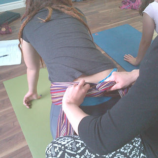 Doulas learning advanced comfort measures for childbirth in Cambridge, Ontario, Canada