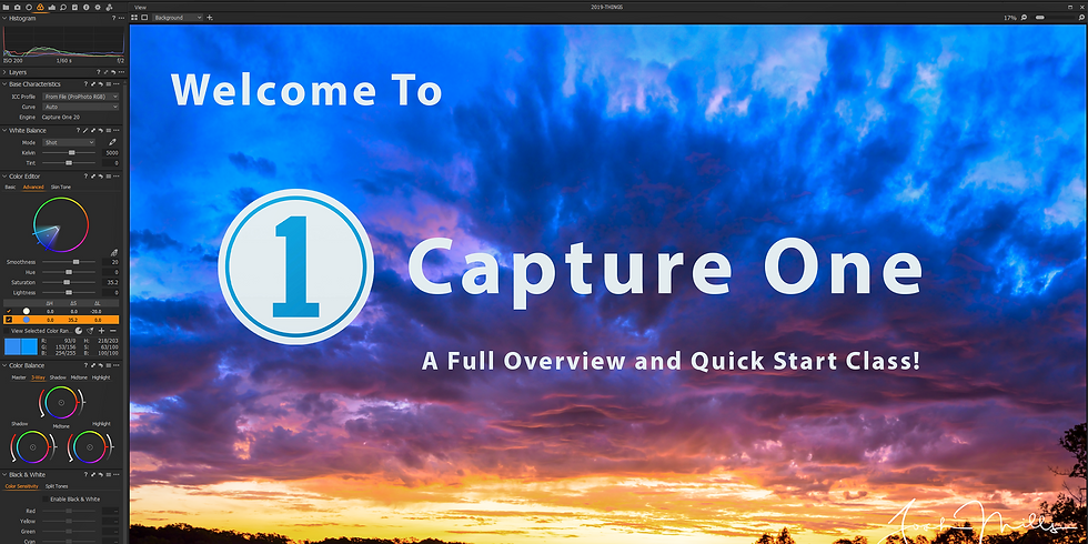 Welcome to Capture One - A Full Overview and Quick Start!