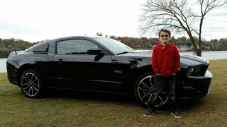 First car show with his own car
