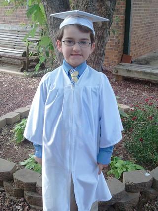 Eli graduates Kindergarten