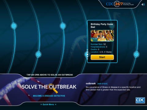 iPad App Solve the Outbreak