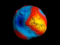 Gravity Map of Earth's Surface