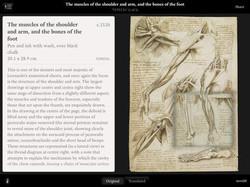iPad App Leonardo da Vinci: Anatomy