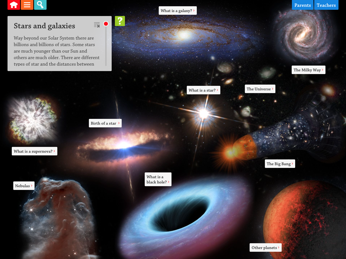 Stars and Galaxies Interactive