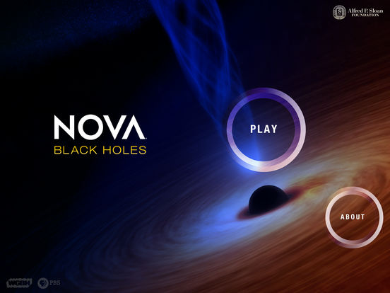 iPad App NOVA Black Holes