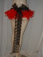 Dancers Short feather skirt many colours