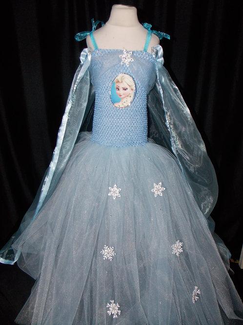 Frozen inspired Elsa dress Handmade 1-11 ages Light blue