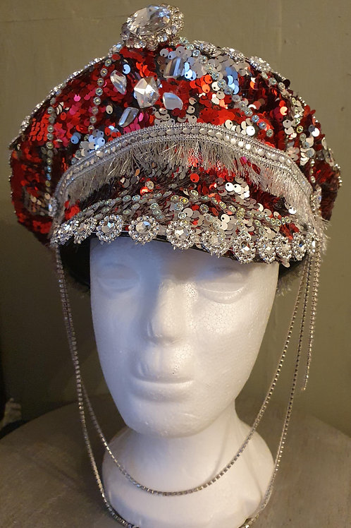 Sequin Diamante's hat ideal for Bride  Festival Burning man