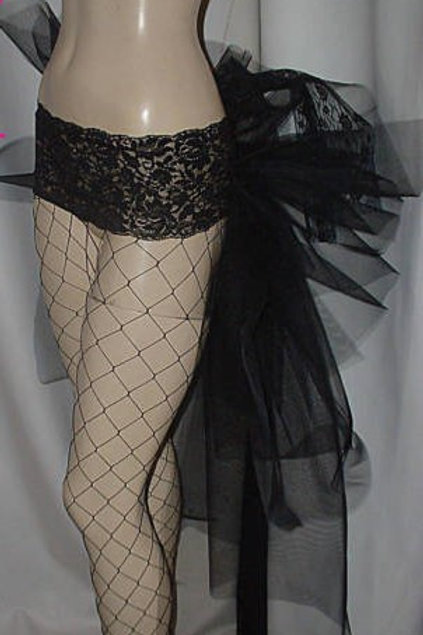 Black net Bustle belt