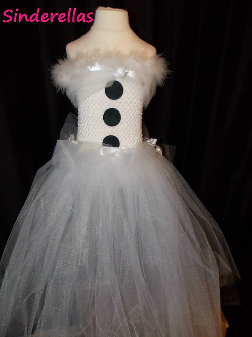 Girls Snowman dress Hand made 1-11 Years