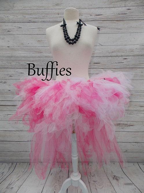 Pink & White scrunched tutu