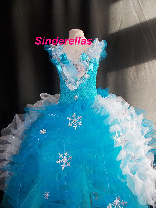 Frozen inspired Elsa dress Hand made 12-15 Years