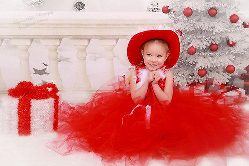 Red Santa dress for girls 8-11