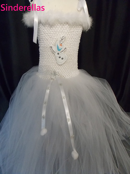 Girls Frozen Olaf inspired dress Hand made 1-11 Years