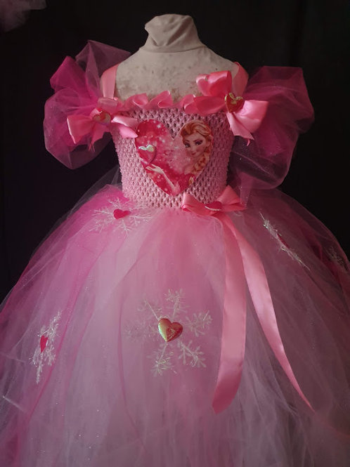 Girls Frozen inspired Pink Elsa dress Hand made 11-15 Years