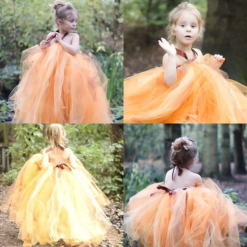 Girls Orange yellow Pumpkin Halloween Autumn colours