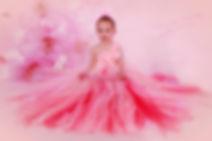 girls pink flower gorl brides maids prom