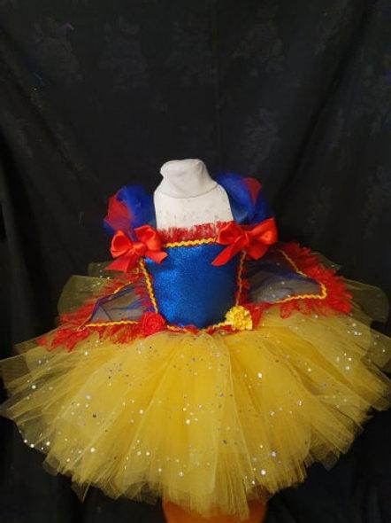 Snow White (Disney Inspired) Handmade Sparkly girls Tutu dress