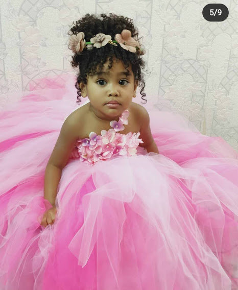 Girls Dress Pink Kids Princess Wedding Party Flower Baby Buffies Boutique