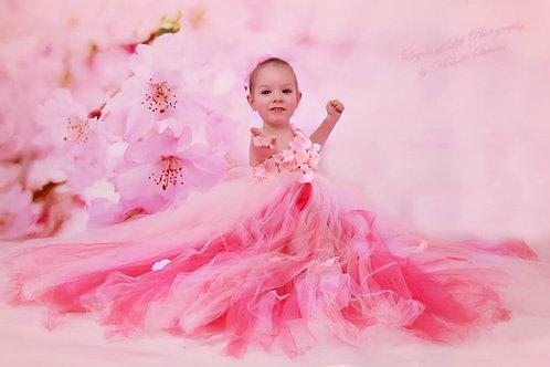 Girls flower girls dress Pink Kids Princess Wedding Party Flower baby