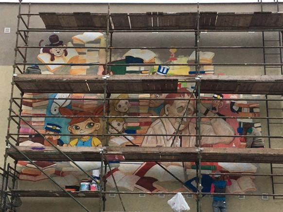 Mural, Pipi & Astrid Lindgren