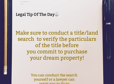 CONDUCT LAND SEARCH