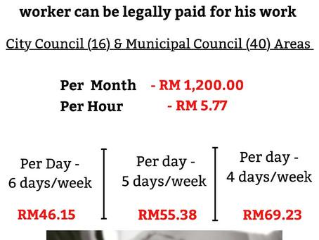 Malaysia Minimum Wage Rate